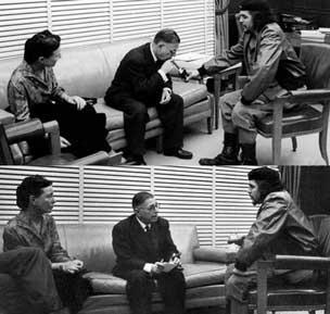 وقتی چه گوارا کبریتش را آتش میزند تا سارتر سیگارش را روشن کند