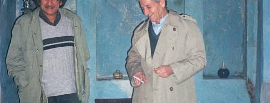 صمد طاهری و احمد اکبرپور در نمایی از فیلم کوتاه «داج»